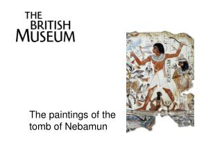 The paintings of the tomb of  Nebamun