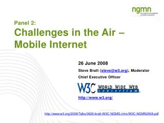 Panel 2: Challenges in the Air – Mobile Internet