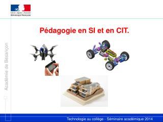 P �dagogie en SI et en CIT.
