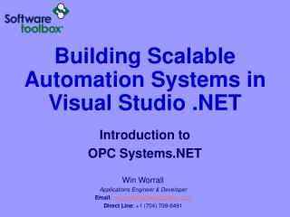 Building Scalable Automation Systems in Visual Studio .NET