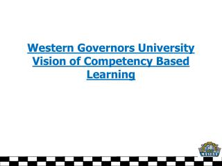 Western Governors University Vision of Competency Based Learning
