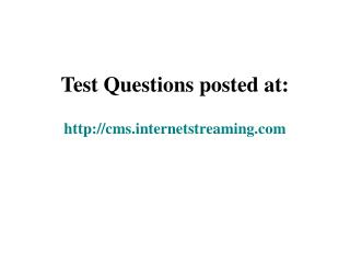 Test Questions posted at: