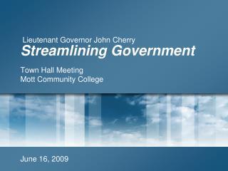 Streamlining Government
