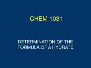 CHEM 1031