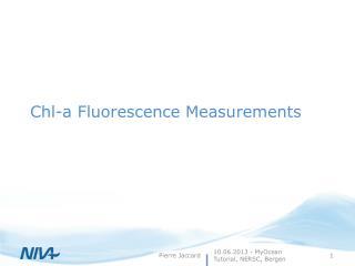Chl -a  Fluorescence Measurements
