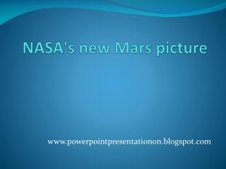 NASA's new Mars picture