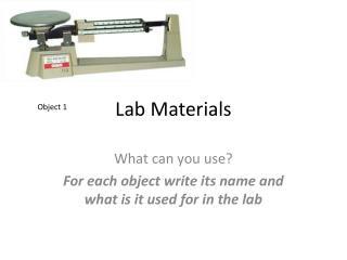 Lab Materials