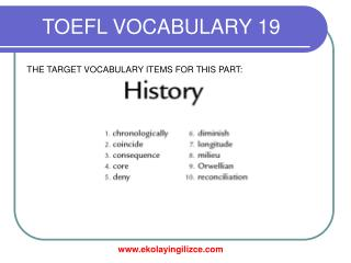 TOEFL VOCABULARY 19