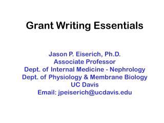 Grant Writing Essentials