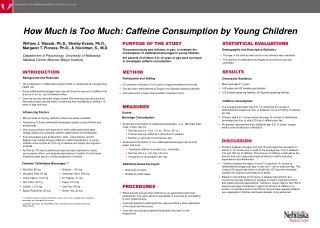 How Much is Too Much: Caffeine Consumption by Young Children