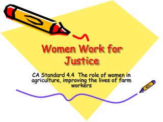 Women Work for Justice