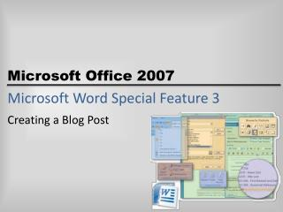 Microsoft Word Special Feature 3