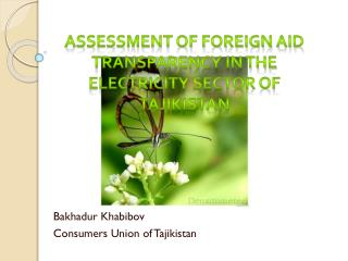 Assessment of foreign aid transparency in the electricity sector of Tajikistan