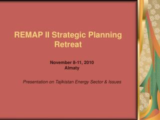 REMAP II Strategic Planning Retreat