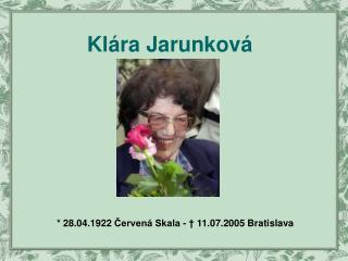 Klára Jarunková