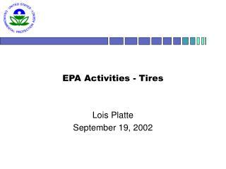 EPA Activities - Tires