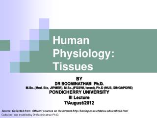 Human Physiology: Tissues