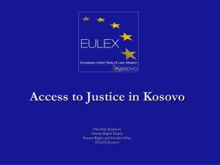 Access to Justice in Kosovo