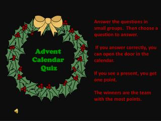 Advent  Calendar  Quiz