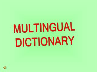 MULTINGUAL DICTIONARY