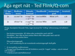 Äga eget nät  - Ted Flink/Q-com