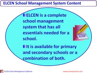 ELCEN School Management System Content
