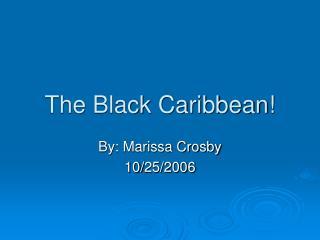 The Black Caribbean!