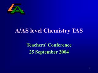 A/AS level Chemistry TAS