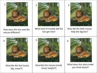 How were the lion and the mouse different?