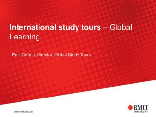 International study tours  – Global Learning