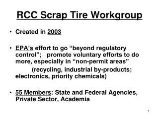 RCC Scrap Tire Workgroup