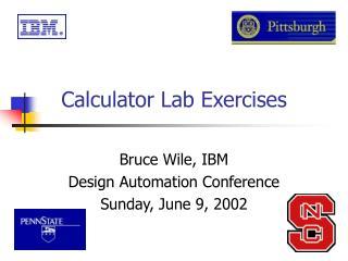 Calculator Lab Exercises
