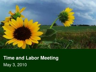 Time and Labor Meeting