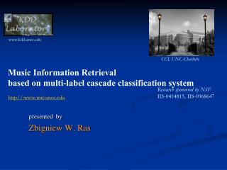 Music Information Retrieval  based on multi-label cascade classification system