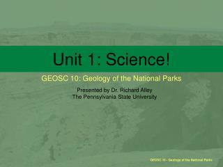 Unit 1: Science