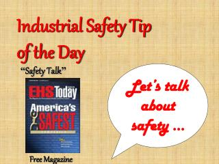 Industrial Safety Tip  of the Day
