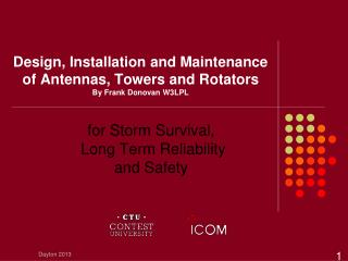 Design, Installation and Maintenance  of Antennas, Towers and Rotators  By Frank Donovan W3LPL