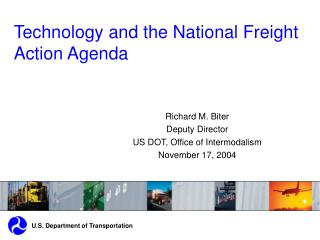 Technology and the National Freight Action Agenda