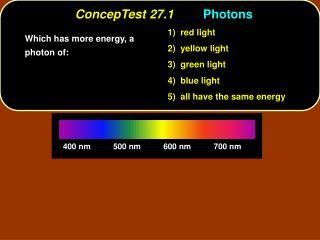 ConcepTest 27.1 Photons