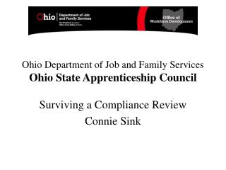 Ohio Department of Job and Family Services Ohio State Apprenticeship Council