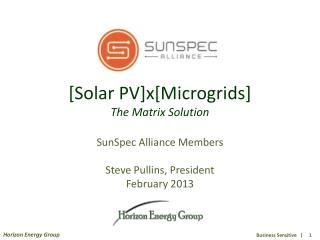 [Solar PV]x[Microgrids] The Matrix Solution