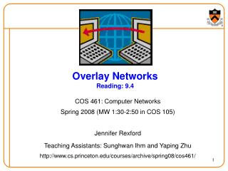 Overlay Networks Reading: 9.4