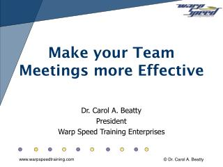 Make your Team Meetings more Effective