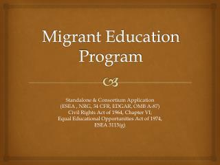 Migrant Education Program