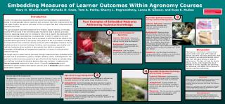 Embedding Measures of Learner Outcomes Within Agronomy Courses