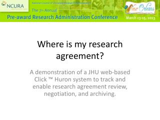 Where is my research agreement?