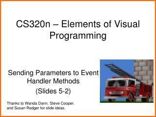 CS320n – Elements of Visual Programming
