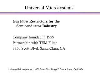 Universal Microsystems