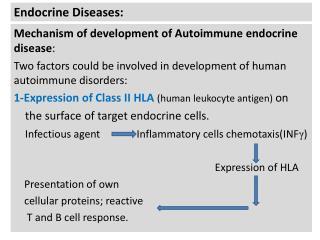 Endocrine Diseases: