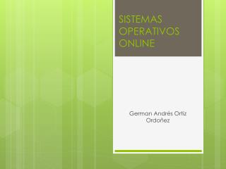 SISTEMAS OPERATIVOS ONLINE